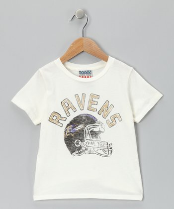 White Baltimore Ravens Tee - Toddler & Kids