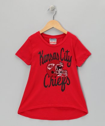 Red Kansas City Chiefs Hi-Low Tee - Girls