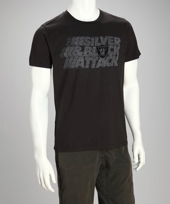 Black Oakland Raiders 'Silver & Black' Tee - Men