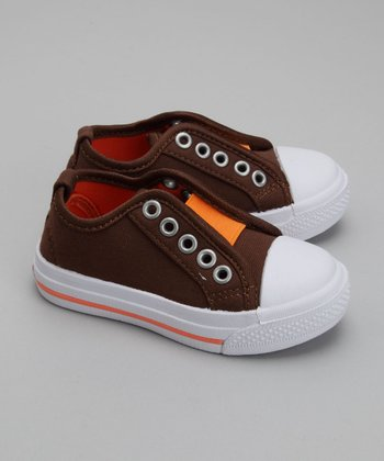 2 Scoops Shoes - Orange Frosty Canvas Slip-On Sneaker 8