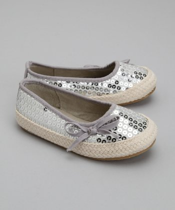 Silver Freeze Sequin Ballet Flat