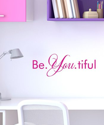 Pink 'Be.You.tiful' Wall Quote