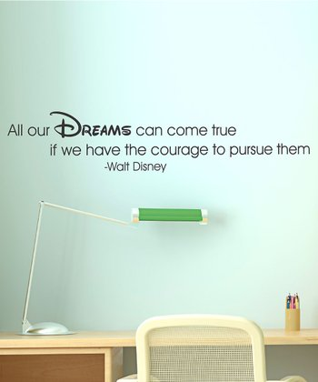 Black 'Dreams Take Courage' Wall Quote