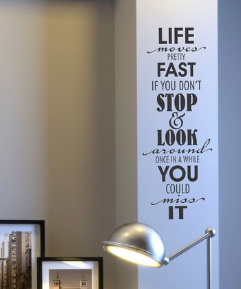 Black Stop and Look Around Wall Quote