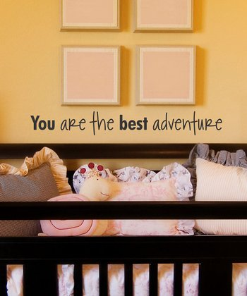 Black 'You Are the Best Adventure' Wall Quote