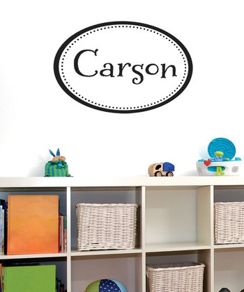 Black Personalized Frame Boy Wall Decal