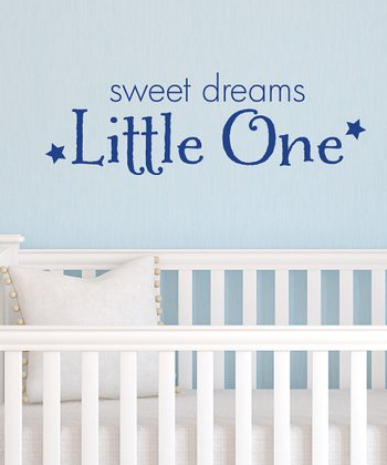 Sapphire 'Sweet Dreams Little One' Wall Decal