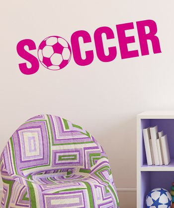 Belvedere Designs Pink 'Soccer' Wall Quote