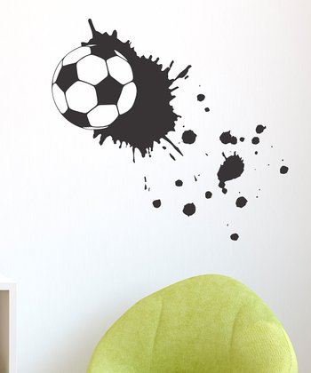 Belvedere Designs Black Soccer Splatter Wall Decal