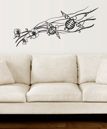 Black Sea Turtles Wall Decal