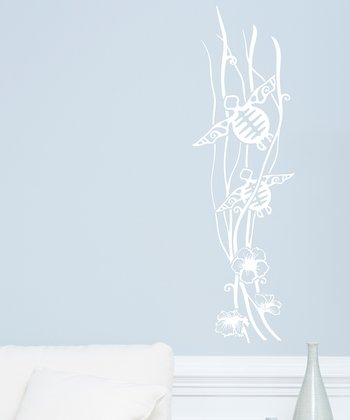 White Sea Turtles Wall Decal