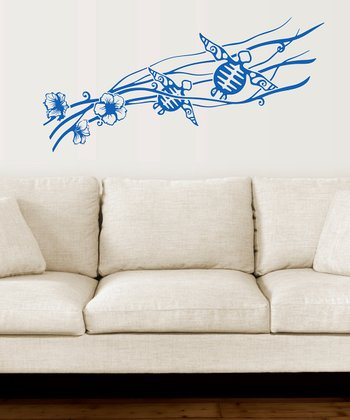 Sapphire Blue Turtles Wall Decal