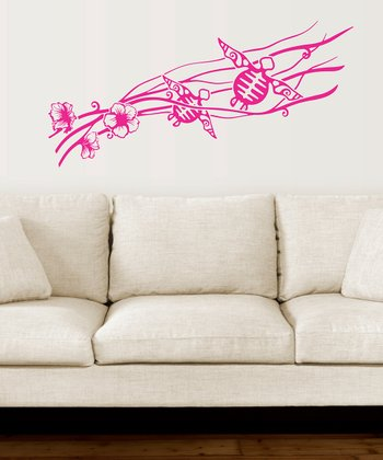 Pink Sea Turtles Wall Decal