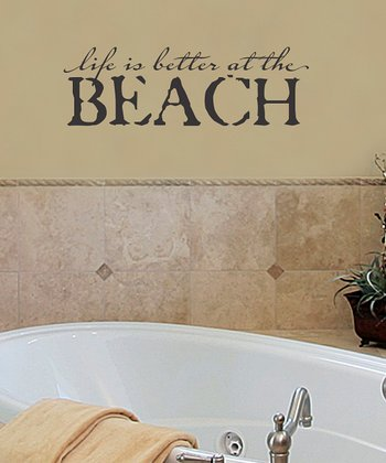 Black Distressed 'Life is Better' Wall Decal