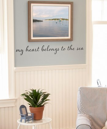 Black 'My Heart Belongs to the Sea' Wall Decal