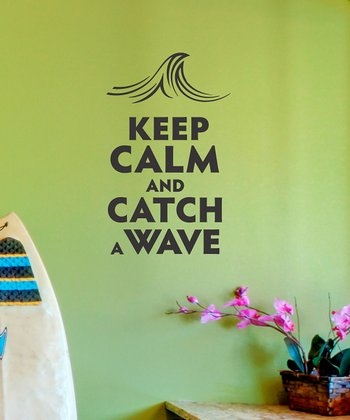 Black 'Catch a Wave' Wall Decal