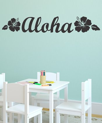 Black 'Aloha' Wall Decal