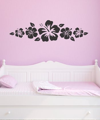 Black Hibiscus Wall Decal