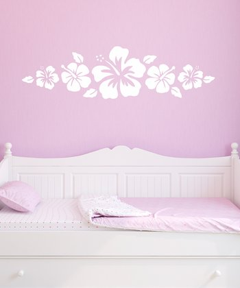 White Hibiscus Wall Decal