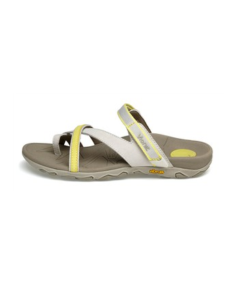 Gray & Yellow Mojave Leather Sandal