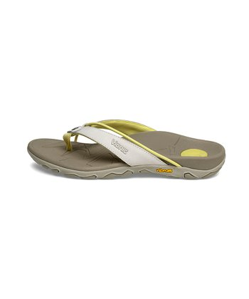 Gray & Yellow Cascade Leather Sandal
