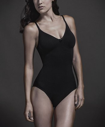 Black Seamless Pinup Shaper Bodysuit - Women