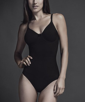 Black Seamless Pinup Underwire Shaper Bodysuit - Women