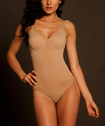Nude Seamless Pinup Underwire Shaper Bodysuit - Women