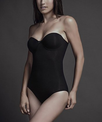Black Seamless Pinup Shaper Strapless Bodysuit - Women
