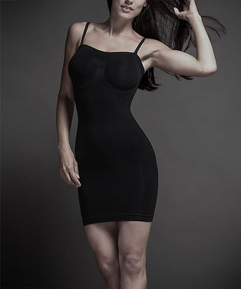 Black Seamless Slenderizer Shaper Slip - Women
