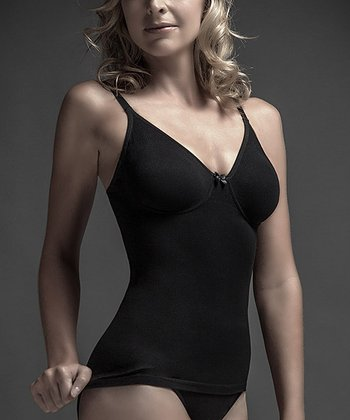 Black Seamless Underwire Shaper Camisole - Women