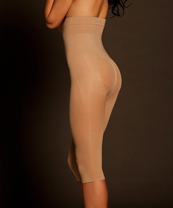 Nude Seamless Shaper High-Waisted Capri Leggings - Women