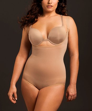 Nude Smooth Cinch Shaper Underbust Bodysuit - Plus