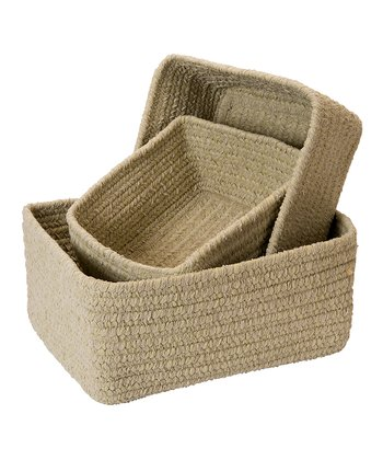 Sprout Green Chenille Nesting Basket Set
