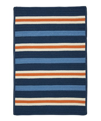 Set Sail Blue Painter Stripe Rug