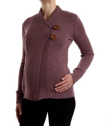 Heather Purple Collar Maternity Sweater