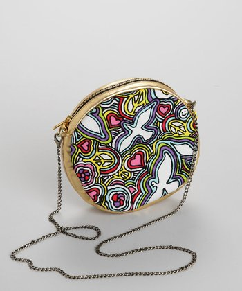 Round Peace Pattern Purse