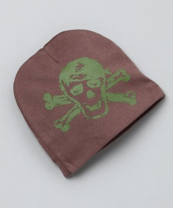 Brown & Green Skull Beanie
