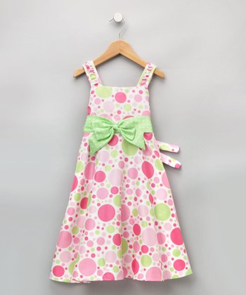 Good Lad Girls - Pink Polka Dot Dress 6x