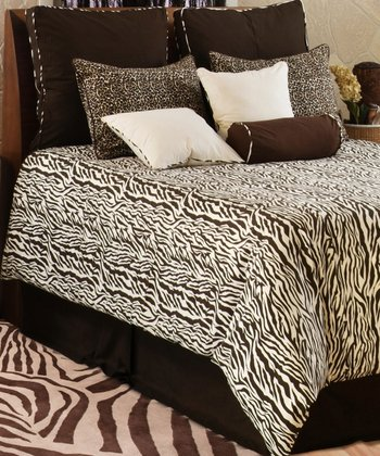 Chocolate & Ivory Safari Comforter Set
