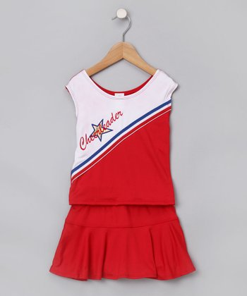 Red Cheerleader Costume Set - Toddler & Girls