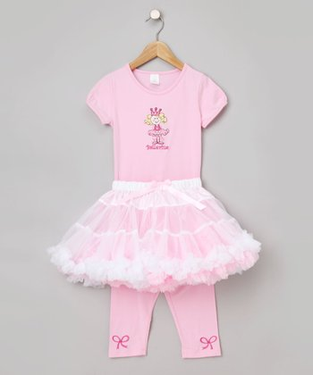 Pink & White Ballerina Tutu Set - Infant, Toddler & Girls