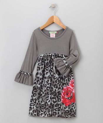 Big Citizen by Baby Nay - Charcoal Maya Modal Dress 3T