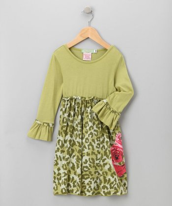 Big Citizen by Baby Nay - Green Maya Modal Dress 4Y