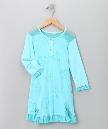 Big Citizen by Baby Nay - Blue Cutout Dress 4Y