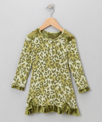 Big Citizen by Baby Nay - Green Annalise Dress 4T