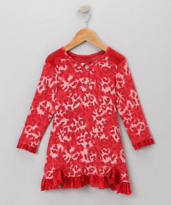 Big Citizen by Baby Nay - Red Annalise Dress 4T