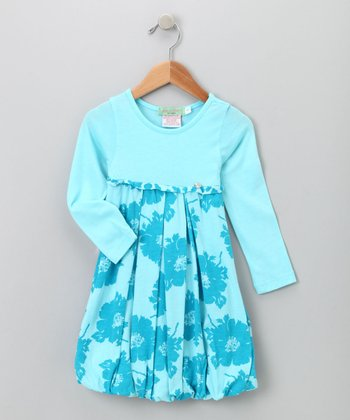 Big Citizen by Baby Nay - Blue Modal Bubble Dress 4T