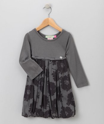 Big Citizen by Baby Nay - Charcoal Modal Bubble Dress 14Y