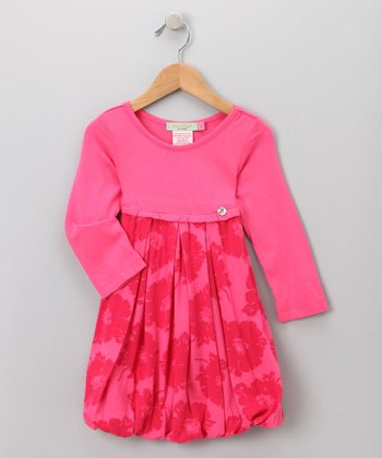 Big Citizen by Baby Nay - Pink Modal Bubble Dress 14Y